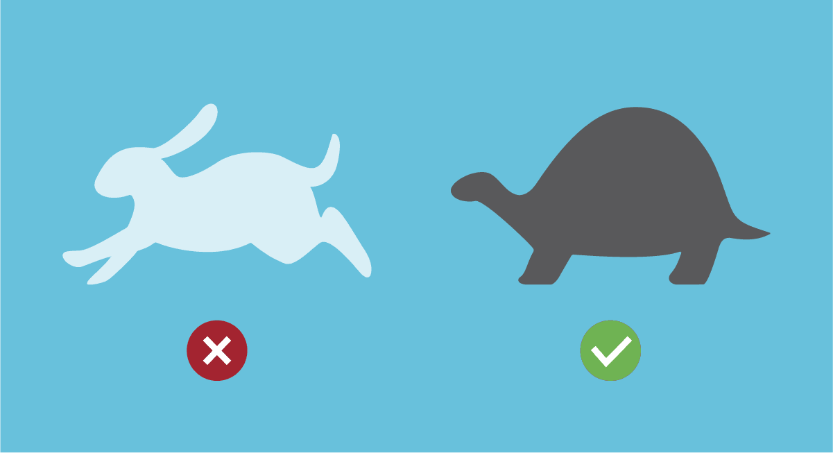 anal play is like the tortoise and hare fable whereby slow and steady wins the (anal) race