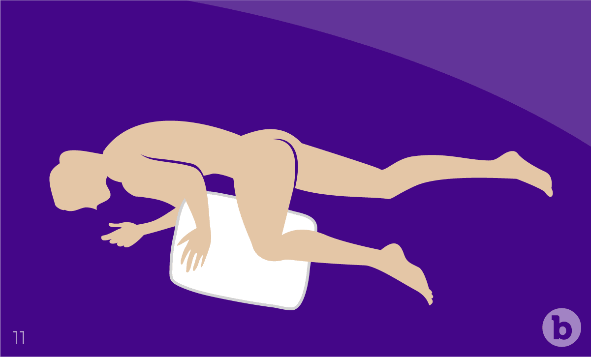 Lying down on your side is a great position for anal sex, especially for people with back and knee pains