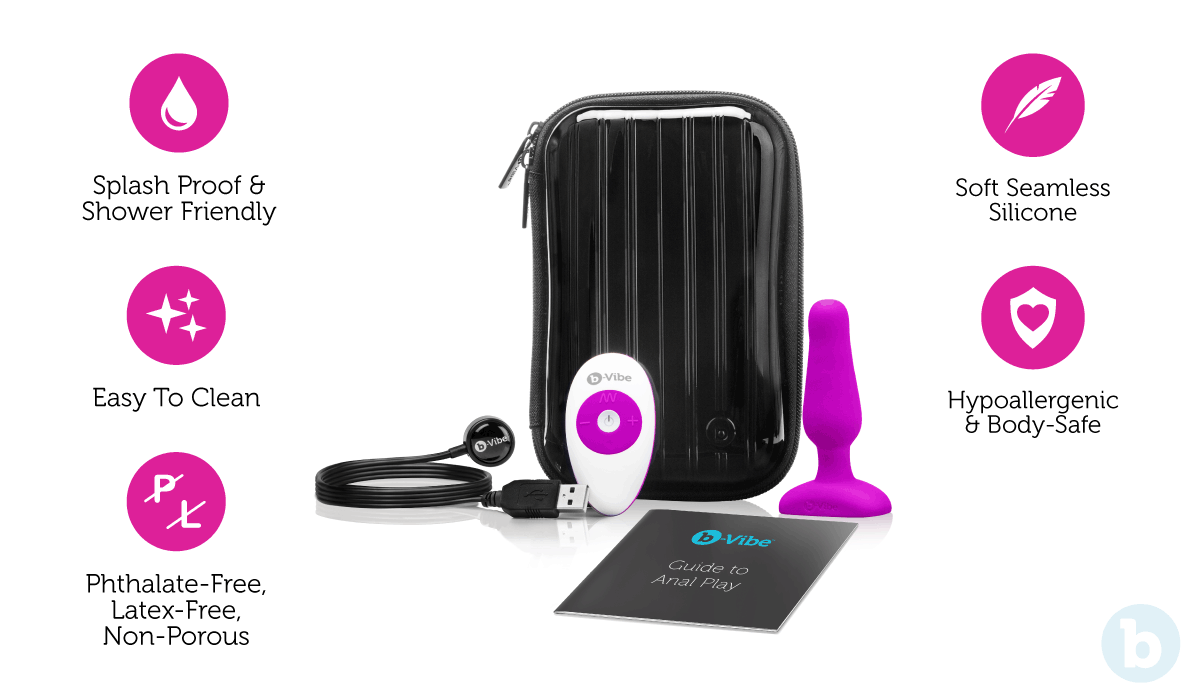 The b-Vibe Novice Plug is a small butt plug with some truly exceptional features