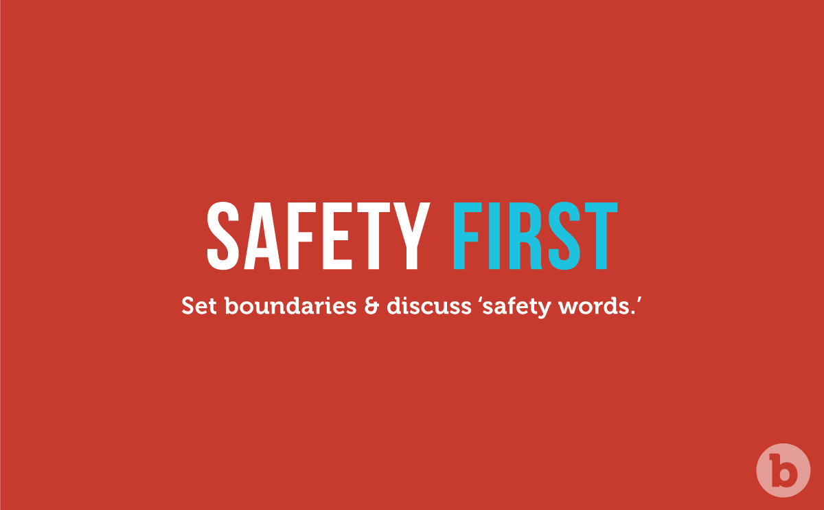 Set boundaries and always put safety first when using a remote control butt plug during D and S play
