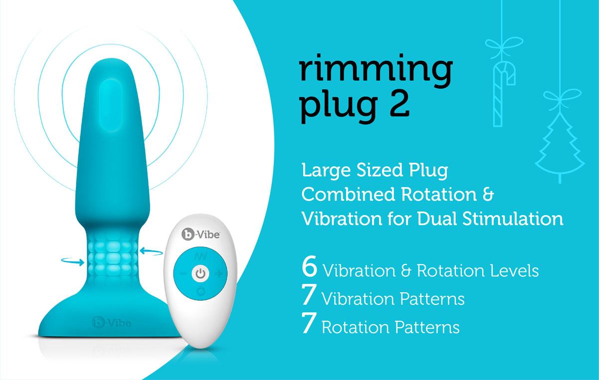 The b-Vibe Rimming Plug 2 is a butt plug that mimics the sensation of analingus
