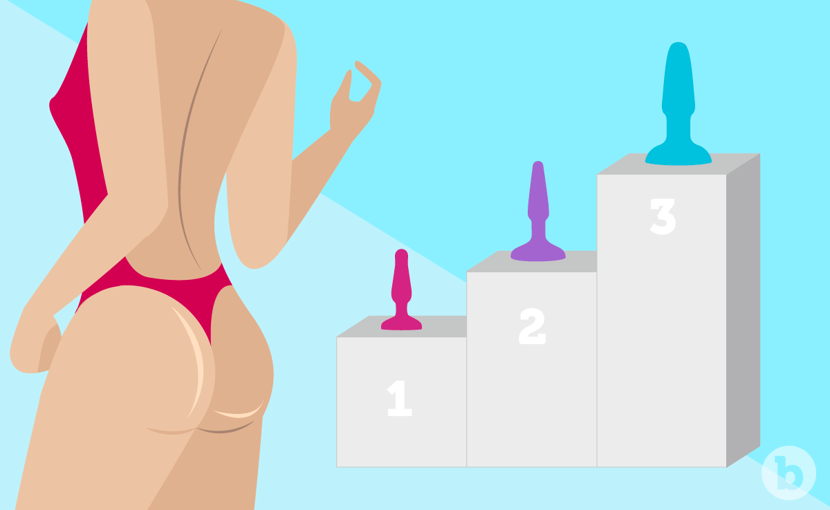 Start small and work slowly your way up to larger sized plugs in your anal training