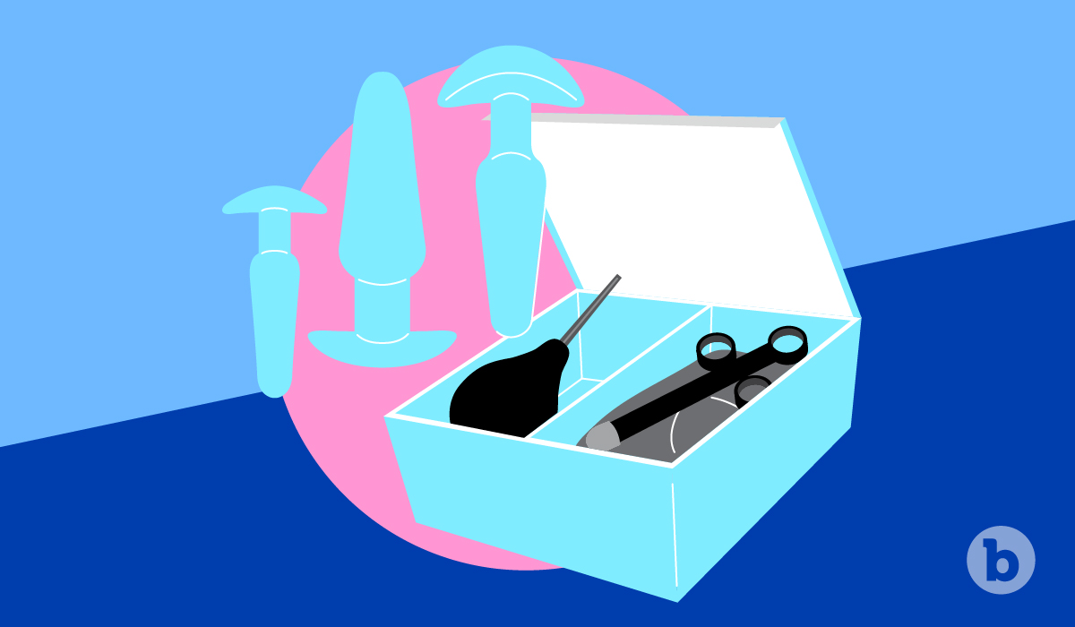 The easiest way to practice bottoming is with the aid of an anal training kit