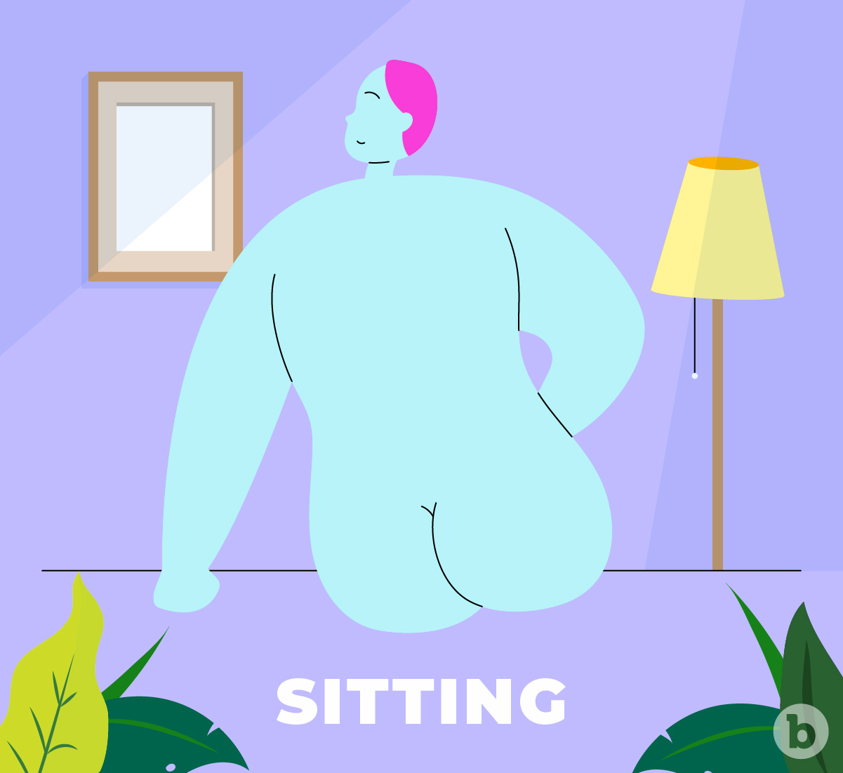 The sitting belfie pose is a great pose for people with butts on the flatter side