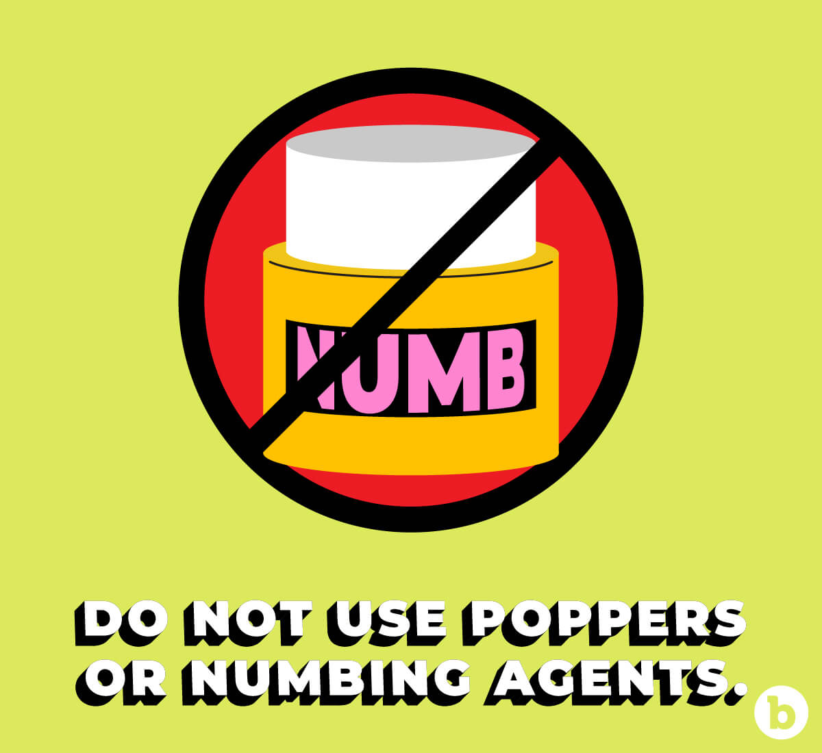 Avoid using poppers and numbing agents during anal sex