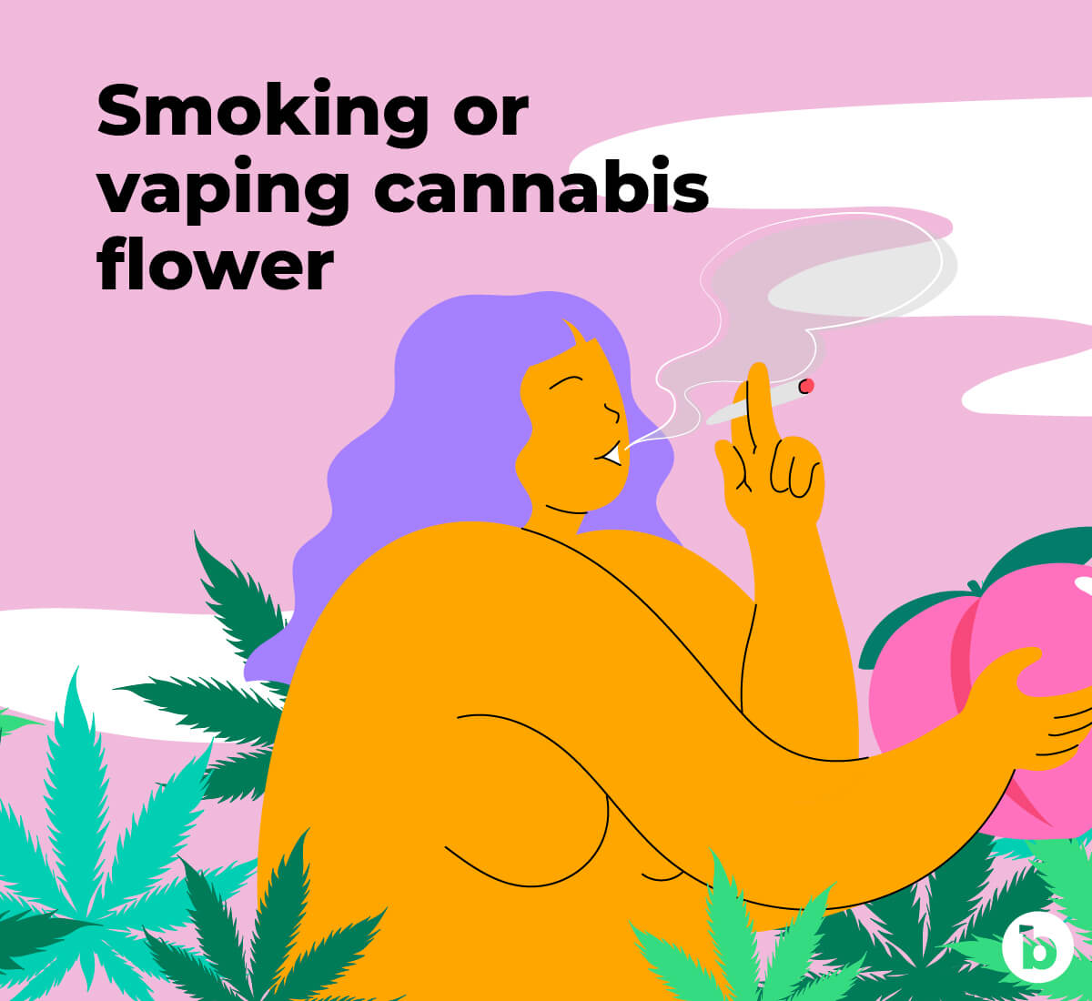 Smoking or vaping cannabis flower can help you relax prior to anal play