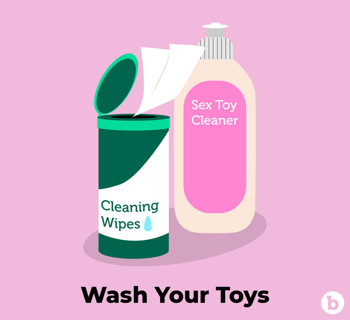 Washing your sex toys is equally as important as washing your hands