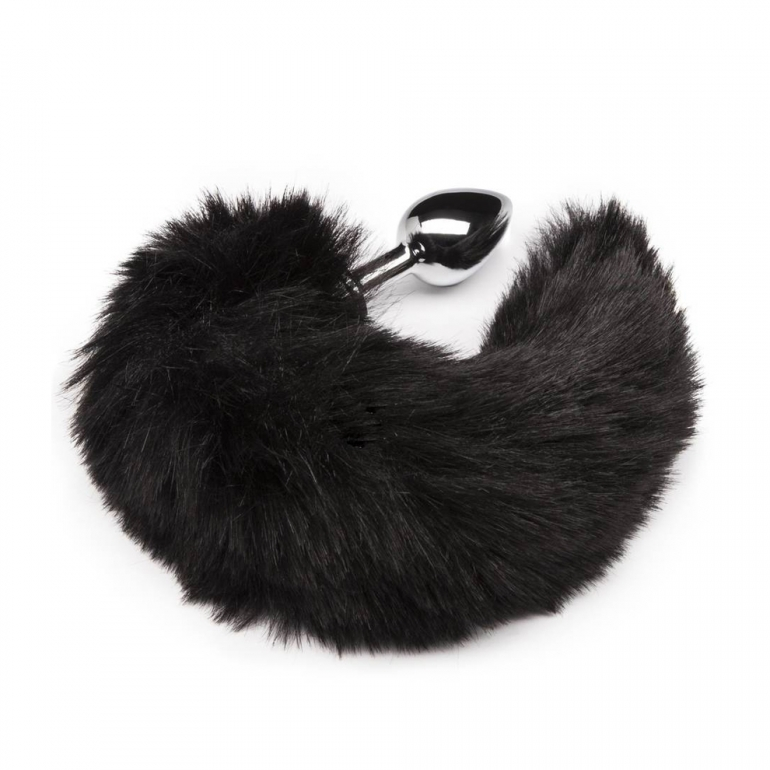B-Vibe Deluxe Stainless Steel Butt Plug With Faux Animal Tail
