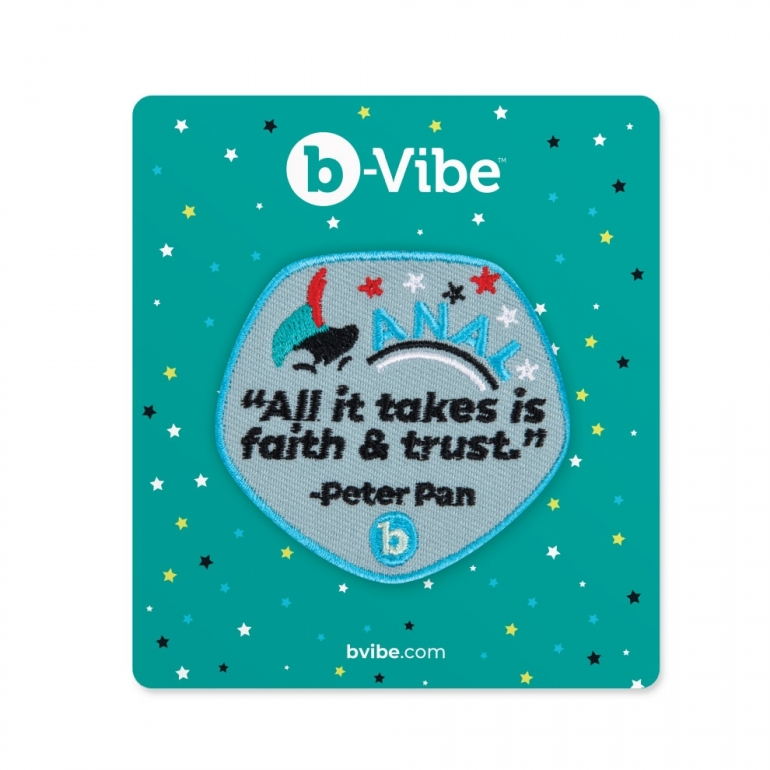 B-Vibe Faith And Trust Woven Patch Booty Swag