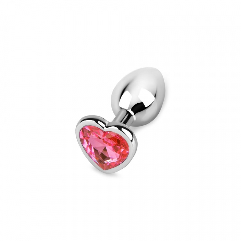 Pink Heart Jewel Butt Plug For Anal Play