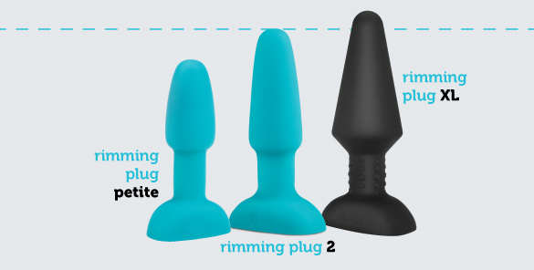 b-Vibe Rimming Plug is available for purchase in a petite, intermediate, and XL size