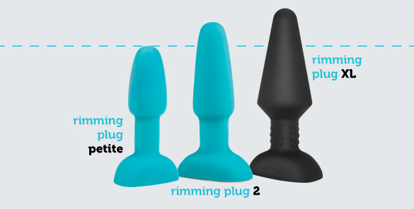 b-Vibe rimming plug petite has a powerful tip vibration for added anal pleasure