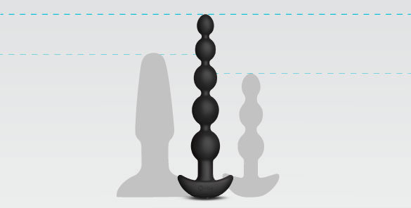 The b-Vibe Cinco's tapered anal beads make them an ideal sex toy for beginners and advanced anal enthusiasts