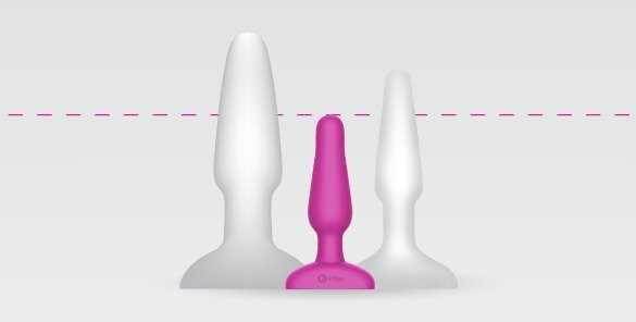 The b-Vibe Novice Vibrating Butt Plug is a small anal sex toy for anal beginners