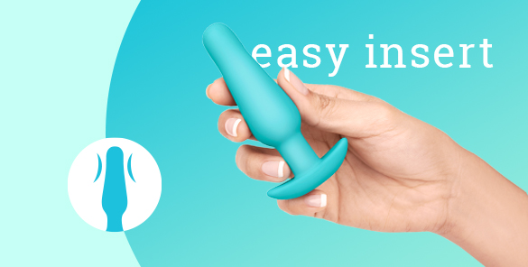 This b-Vibe Anal Training Kit includes a small silicone butt plug
