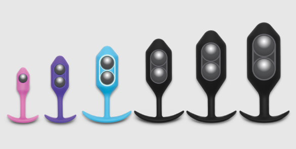 b-Vibe Snug Plugs come in progessively heavier weights ranging from 55 grams to 350 grams